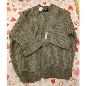 Zara Sweater Gray with Pockets with Wool
